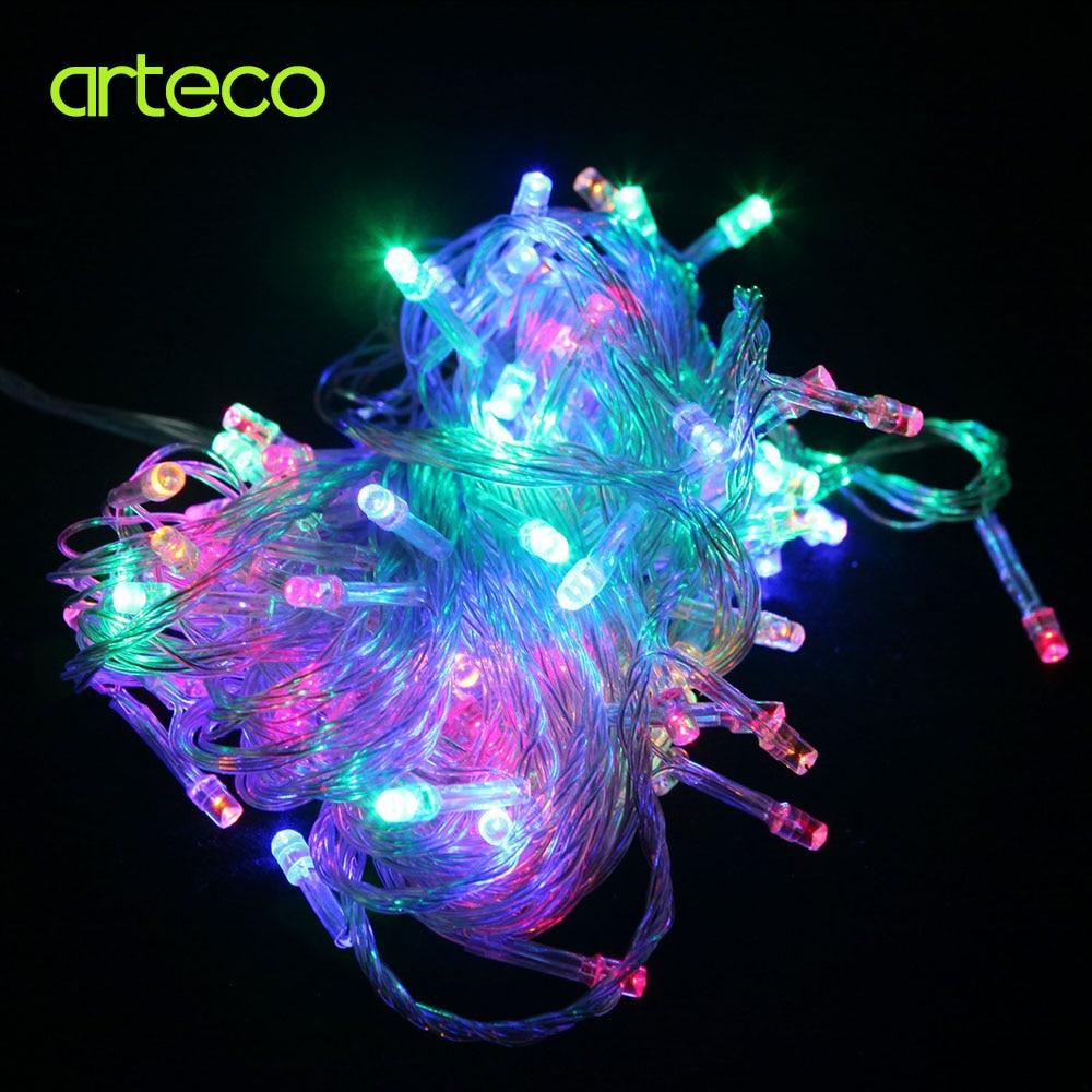 110V / 220V 10M 100LEDs Krismas LED String Light Xmas Fairy Garland - Pencahayaan perayaan - Foto 4