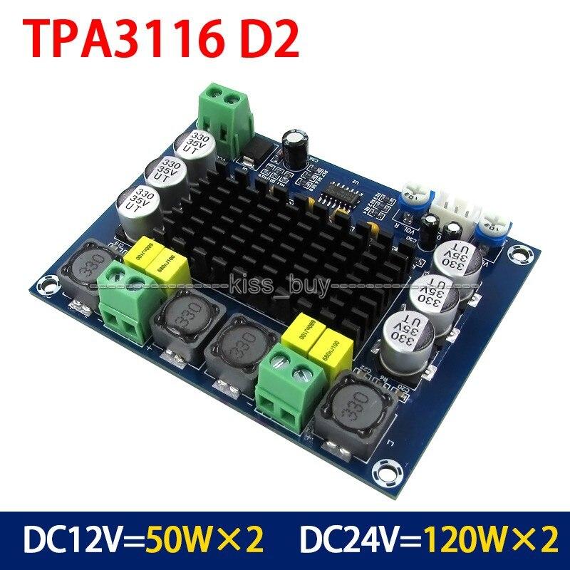 Dc 12v 24v 120w2 Tpa3116 Dual Channel Digital Power Audio Amplifier Board Amp 120w120w For Car kopen