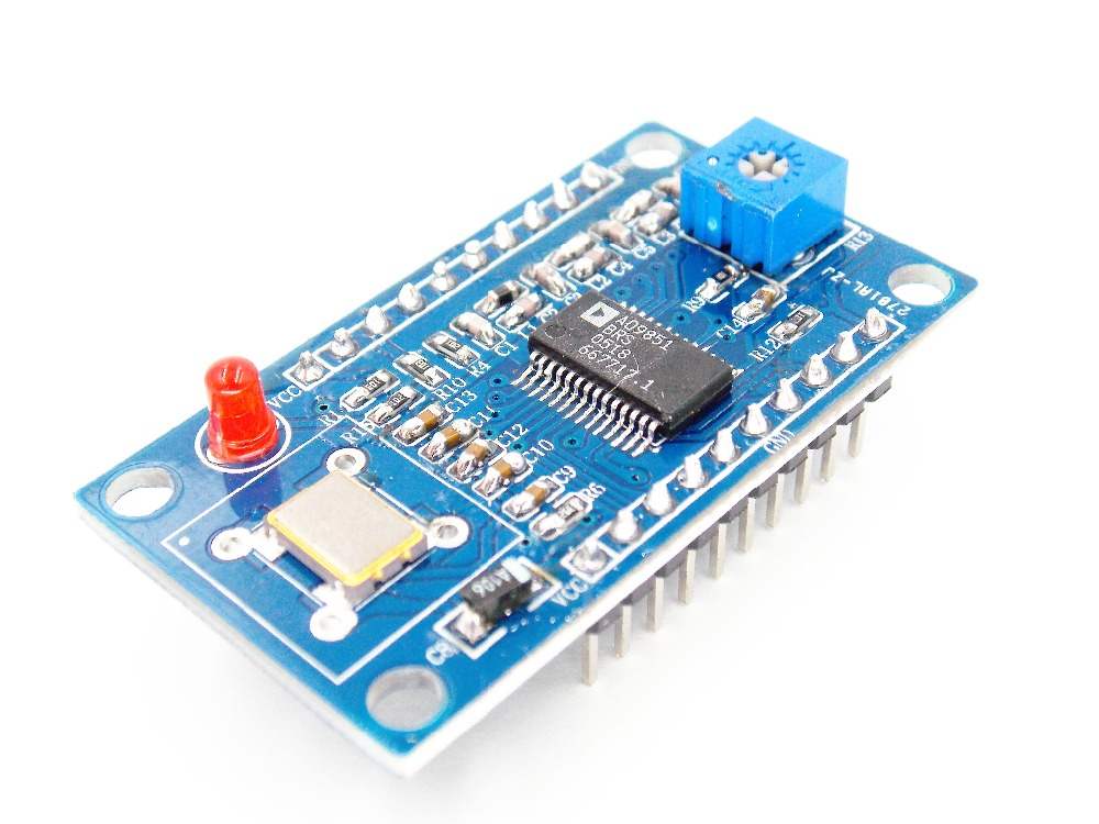 1PCS DDS Signal Generator Module 0 70MHz AD9851 2 Sine Wave and 2 Square Wave AD9851 IC 30MHZ crystals