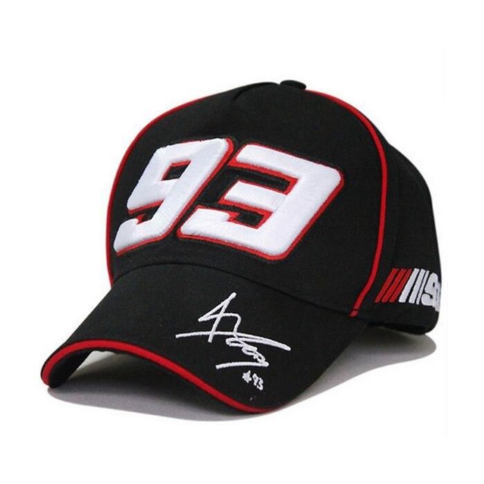 Free Shipping Moto GP 93 Marc Marquez Cap Outdoor Baseball Cap Fashion  Snapback Hat Sports Cap F1 Motorcycle Cap Racing Hat-in Baseball Caps from  Apparel ... b58367f34d38