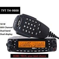 50 KM Long Range 1801A TYT TH 9800 Plus Quad Band 50W Car Mobile Marine Radio Station TYT TH9800 TH 9800 Repeater Scrambler