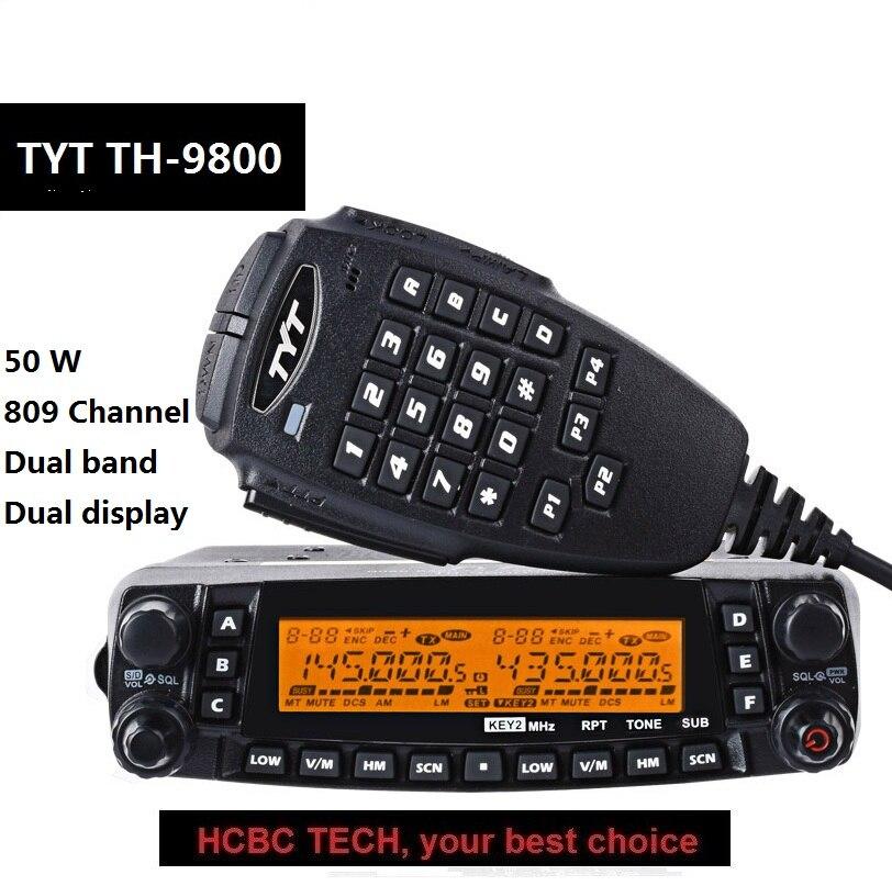 50 км Дальний диапазон 1801A TYT TH 9800 Plus Quad Band 50 Вт Автомобильная Мобильная морская радиостанция TYT TH9800 TH 9800 ретранслятор скремблер