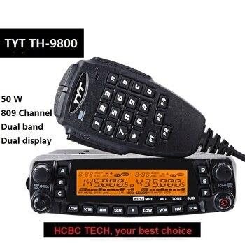 50 км большой диапазон 9800 а TYT TH 9800 Plus Quad Band 50 Вт Автомобильная Мобильная морская радиостанция TYT TH9800 TH ретранслятор скремблер