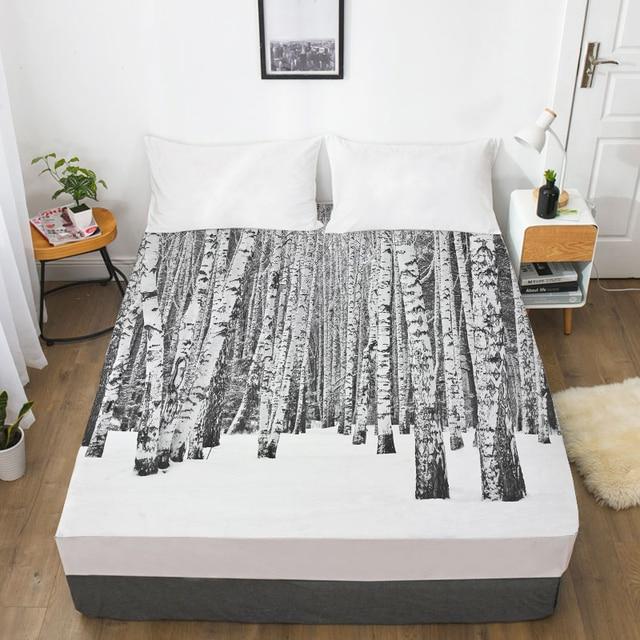 3D HD Digital Print Custom Bed Sheet with Elastic,180//150//160x200 Fitted Sheet Queen//King,Mattress Cover Waterfall,landscape-01,90x200 Deep 30cm
