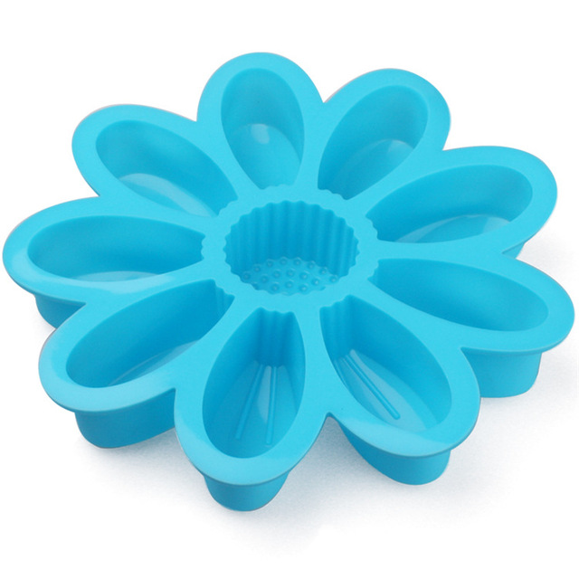 Large Sunflower Muffin Candy Jelly Ice Silicone Cake Tools Moulds Mold Baking Pan Tray Bakeware Kitchen Cake Decorating Tools