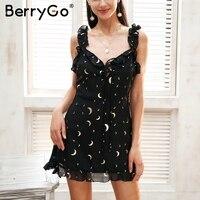 BerryGo Sleeveless Lace Up Summer Dress Women Strap V Neck Backless Casual Dress Girl 2018 Spring