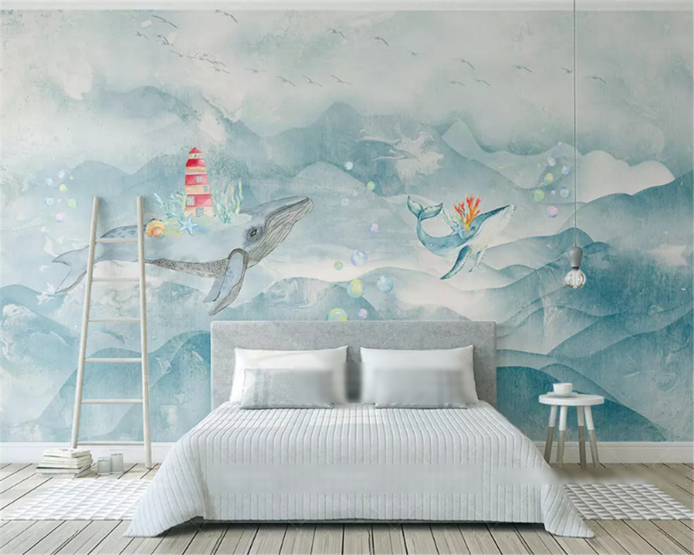 beibehang Customized modern fashion stereo silky 3d wallpaper Nordic minimalist panda children 39 s house wall papers home decor in Wallpapers from Home Improvement