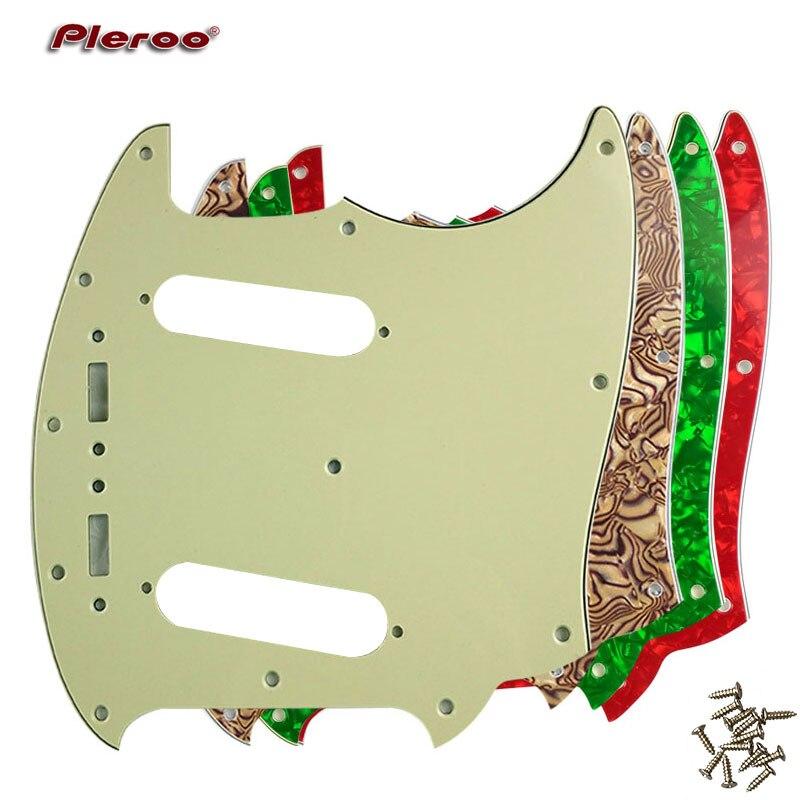 Pleroo Custom Guitar Pickgaurd Scratch Plate - For US Mustang Guitar Pickguard Scratch Plate