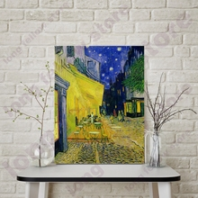DIY Coloring by Numbers Cafe Terrace at Night By Vincent Van Gogh Canvas Painting for Dining Room Wall Decor Paint