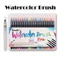 b331ec7f8e Kemila 20 colores pincel de acuarela lápiz de punta fina suave rotuladores  pincel para boceto dibujo