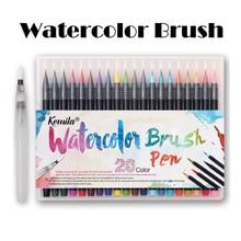kemila 20 Colors Watercolor Brush Pen Soft Fine Tip Markers Pens Paintbrush for Sketch Drawing Manga