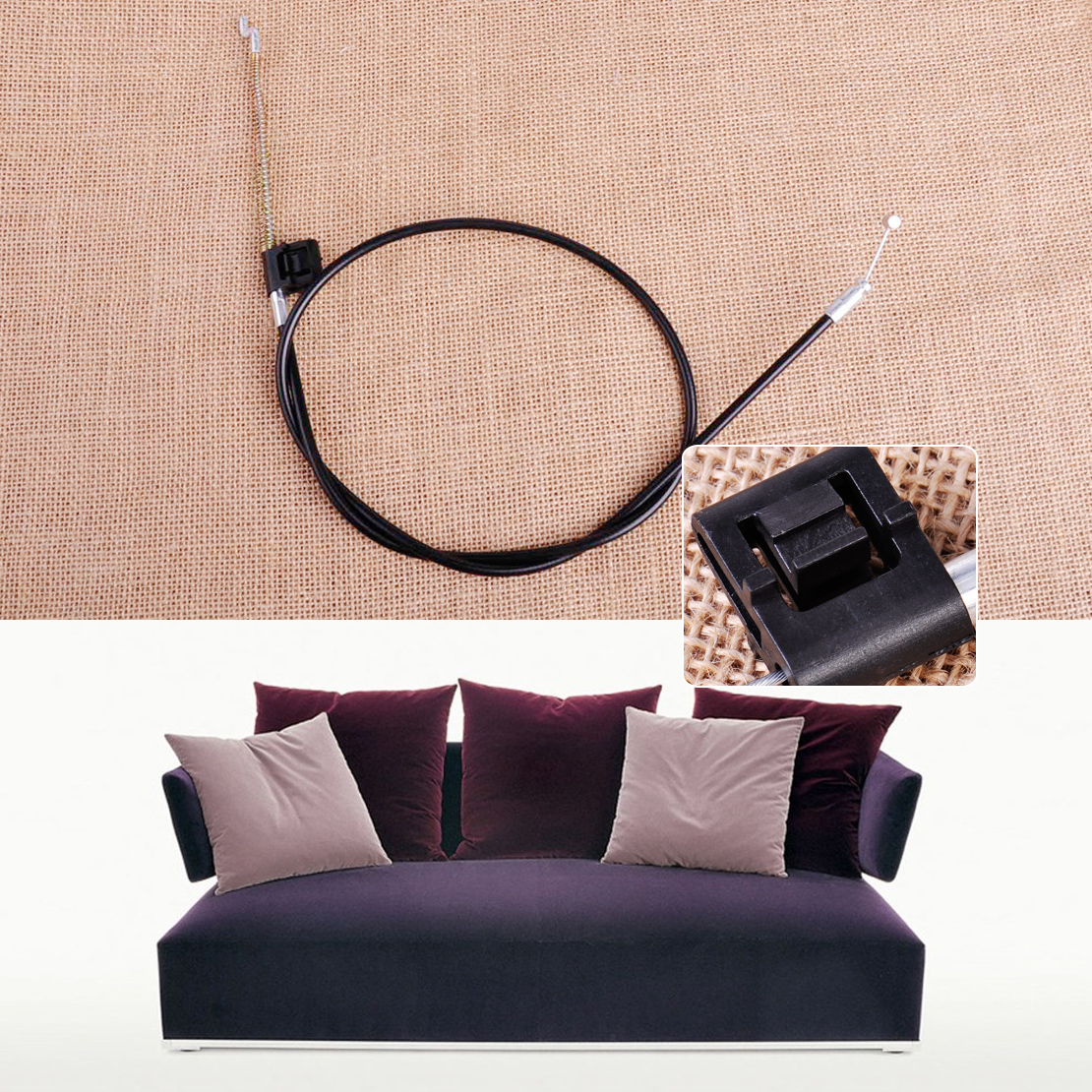New Metal Recliner Chair Sofa Handle Cable Couch Release Lever Replacement Cable Accessibility 2 pcs set durable metal handle recliner chair sofa couch release lever replacement pull handle part black suite recliner