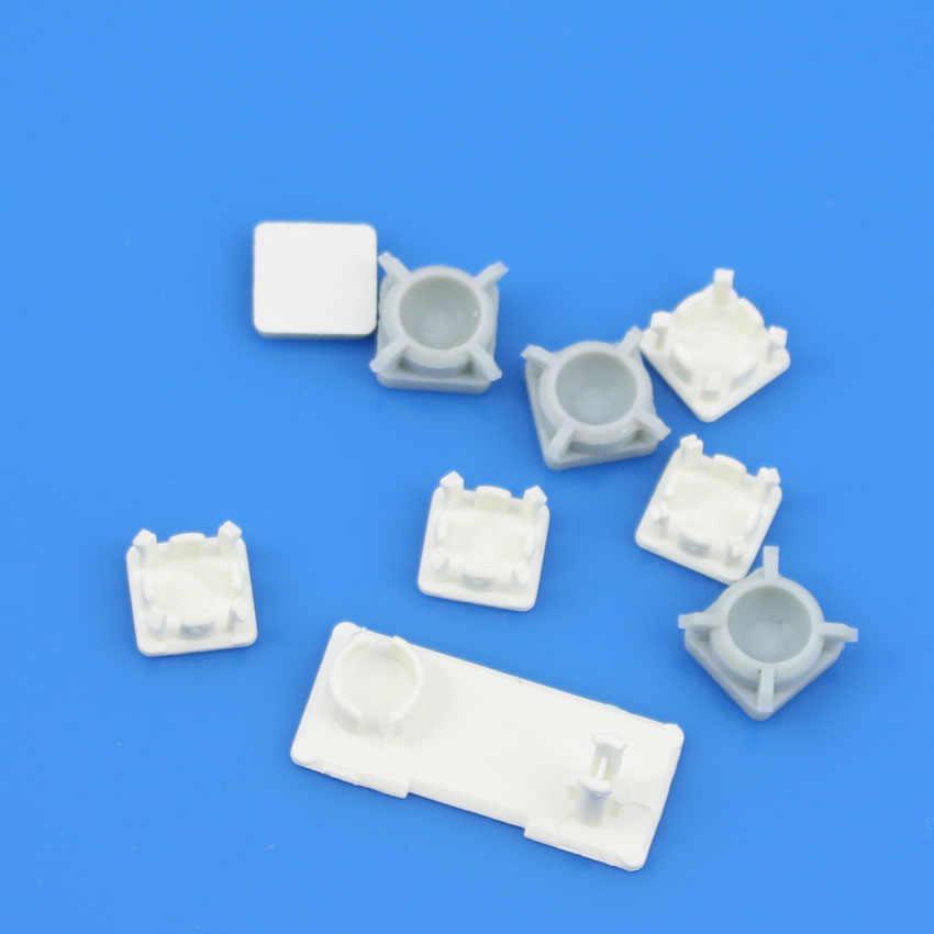 Черный, белый цвет Пластик для PS3 Slim консоли винты w/винт резиновые детские безбортные носки комплект
