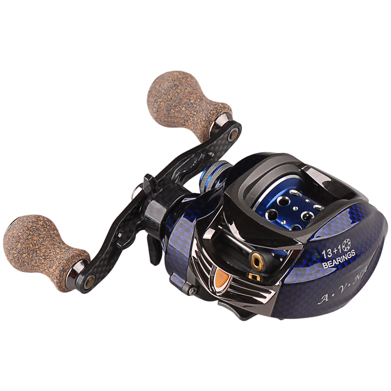 ФОТО Baitcasting Fishing Reel 13+1BB/7.0:1 Fish Wheel Molinete Peche Carretilha Carretes Pesca Bait Casting Centrifugal Brake Coil