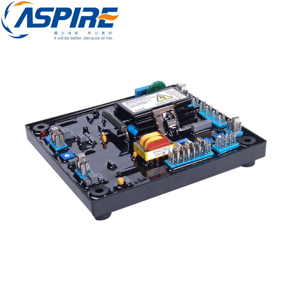 цена на Free Shipping High Quality Black Automatic Voltage Regulator AVR SX440 For Generator