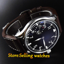 new fashion 44mm PARNIS classic pilot 6497 Mechanical Hand Wind movement men s watch
