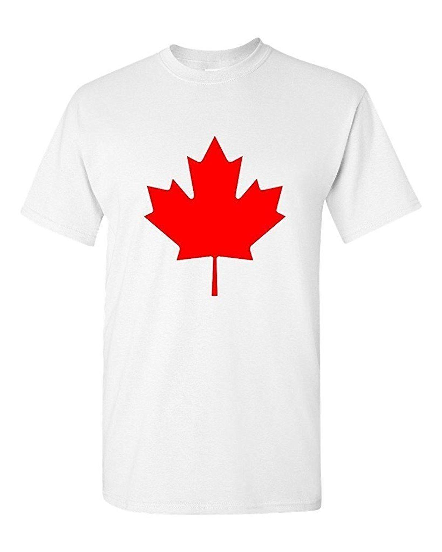 Paint print cheap t shirtcanada maple leaf unisex t shirt for Custom made tee shirts