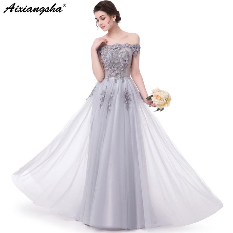 Lace Long Prom Dresses 2018 Cheap A line Tulle Gala Jurken Vestido Longo Gala Dress Elegant Abiti Da Cerimonia Donna Dress Long
