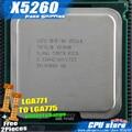Intel xeon x5260 3.33 ghz/6 m/1333 núcleo 2 de doble núcleo e8500 procesador cerca lga771 cpu funciona en lga 775 mainboard 2 unidades