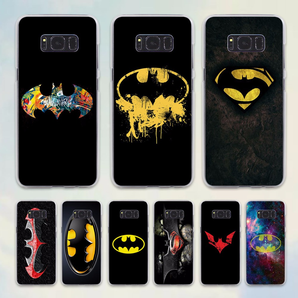 Cool batman logo design hard transparent case for samsung galaxy s8 s8plus s6 s7 edge note