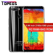 "LEAGOO S8 Pro 5.99 ""Plein Écran Android 7.0 MTK6757 Octa Core Smartphone 6 GB RAM 64 GB Double Caméras Arrière D'empreintes Digitales 4G téléphones"