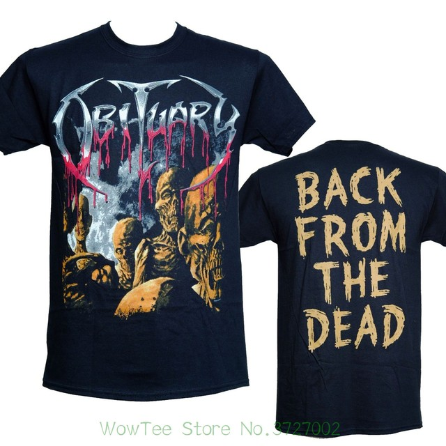 1c6fa031b Obituary - Back From The Dead 2 - Official Licensed T-shirt - New S M L Xl  Printed T Shirt Summer Men s