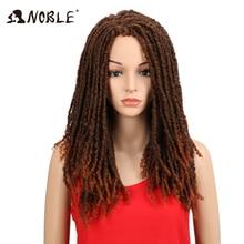 Noble 22 Inch měkké syntetické paruky pro černé ženy Háčkování Twist Jumbo Dread Faux Locs účes dlouhé afro hnědé vlasy