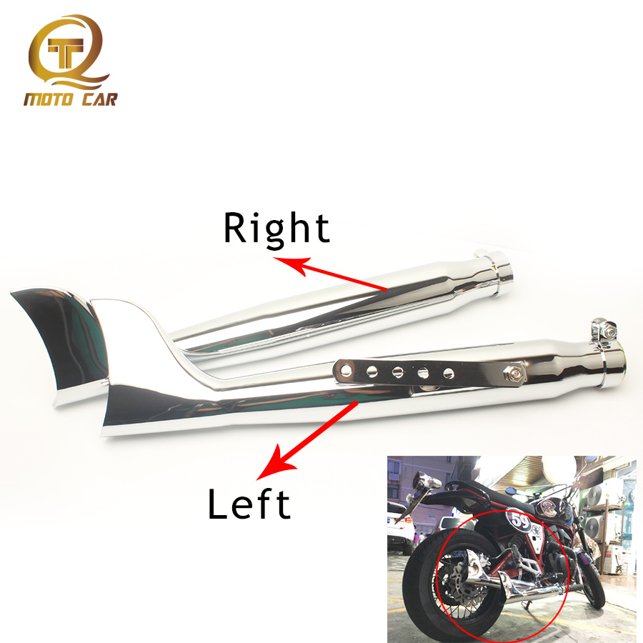 Universal 38-45mm Motorcycle Exhaust Chopper 21 Escape Moto Muffler Fish Pipe for Vertical Harley-Davidson XL883 GY6 Silencer modified akrapovic exhaust escape moto silencer 100cc 125cc 150cc gy6 scooter motorcycle cbr jog rsz dirt pit bike accessories