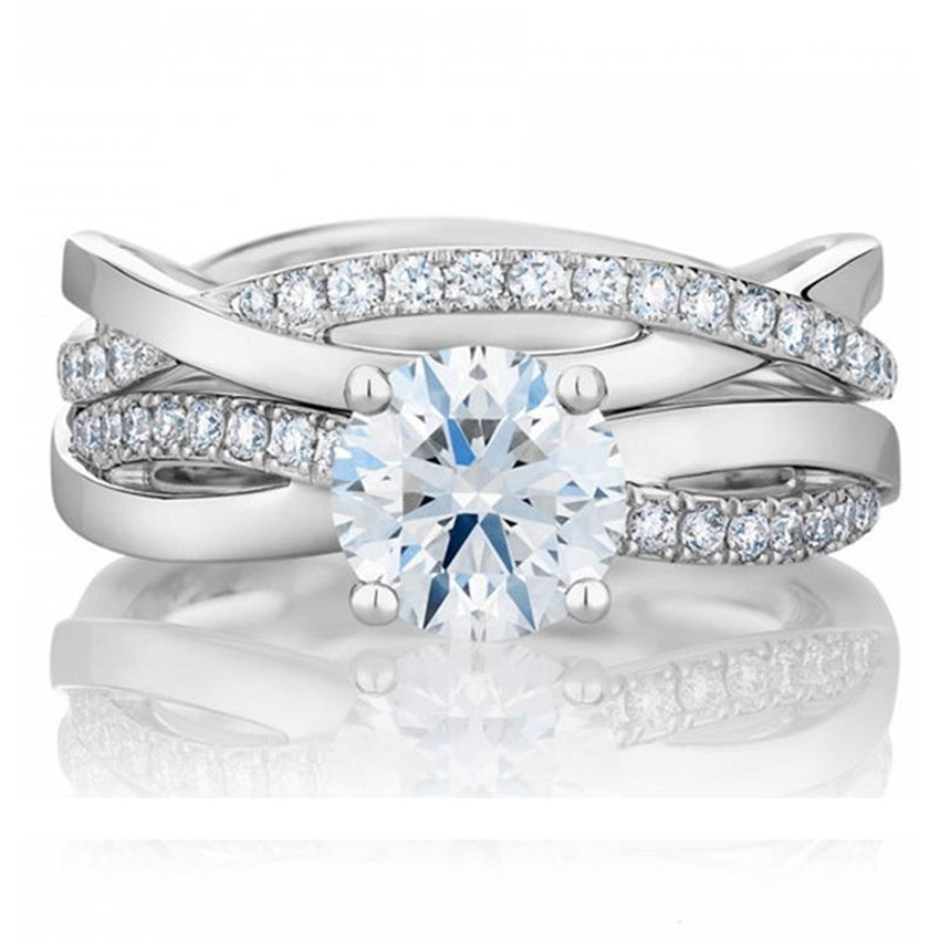 Rings The Best Charles&colvard 0.6ct Moissanite Diamond Ring Sterling Silver White Gold Cover Fine Jewelry Ring Last Forever Jewelry & Accessories