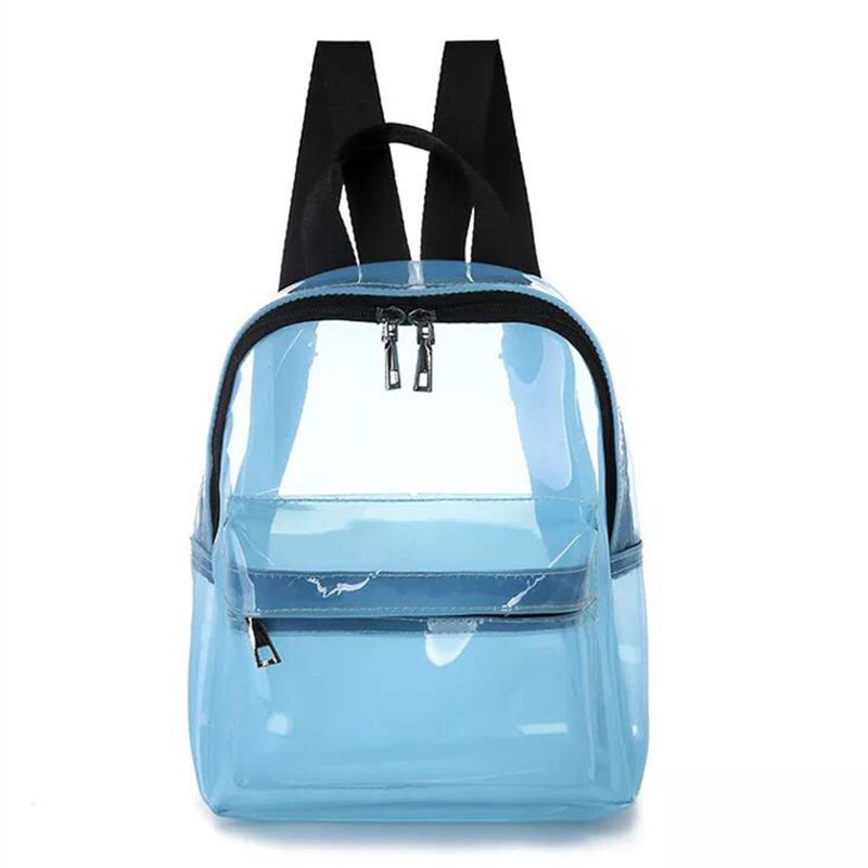 Fashion cute transparent female backpack PVC jelly bag student fashion Ita girl school new