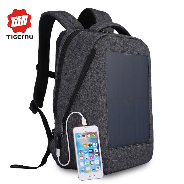 Tigernu New 10w Solar Powered Amp Anti Theft Backpack With