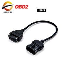10 sztuk/partia dla Opel 10 Pin do 16 Pin OBD 2 dla renault 12 pin samochodów rozszerzenie narzędzie diagnostyczne Adapter lexia 3 30pin złącze