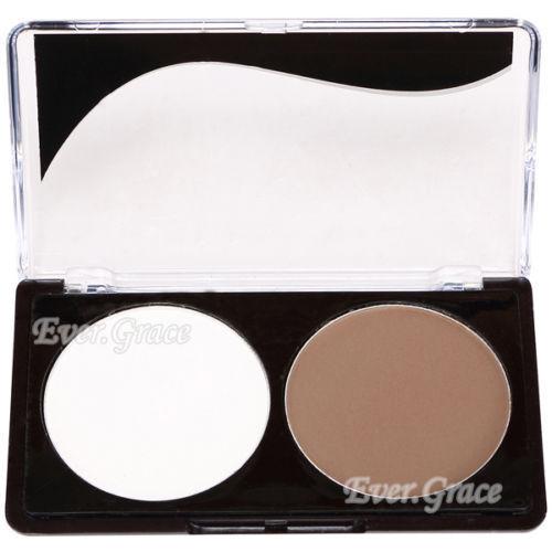 2 Colors Makeup Concealer Kit Face Shading Shadow Powder Bronzer Foundation Set