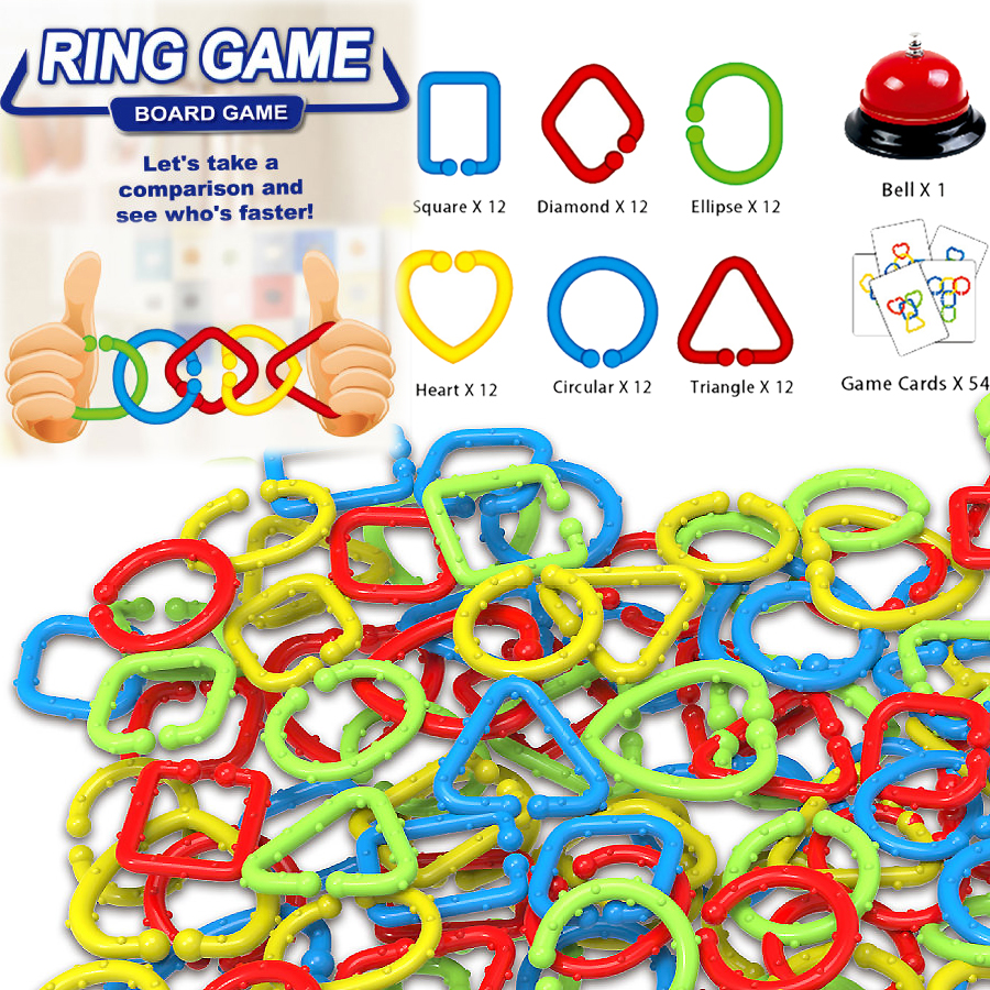 Connect The Colors >> Us 18 5 50 Off Speed Rings Game For Kids Adults Party Family Game Concept Of Speed Connect Colors And Shapes Match Game Educational Toys In Color