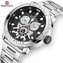 2019 NAVIFORCE Mens Watch Luxury Quartz Sport waterproof Military Wristwatch Creative Clock Full steel Watches Relogio Masculino