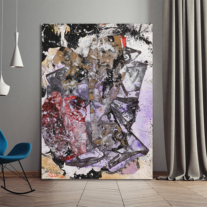 2017 Fashion Abstract Design Decorative Texture Canvas oil Painting Art Modern Home Decor Wall Picture For Living Room in Painting Calligraphy from Home Garden