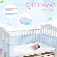 2 pcs 160x30cm Baby Bumper Bed Breathable Mesh Liner Cot Crib Bumper Air Safety Suffocate Newborn Baby Bedding Around Protector
