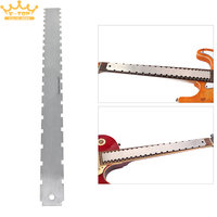 Rvs Dual Schaal Gitaar Hals Notched Rechte Rand Luthiers Tool Meting Fretboard en Frets