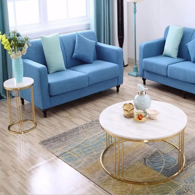 Marble Coffee Table Nordic Small Round Table Simple Living Room ...