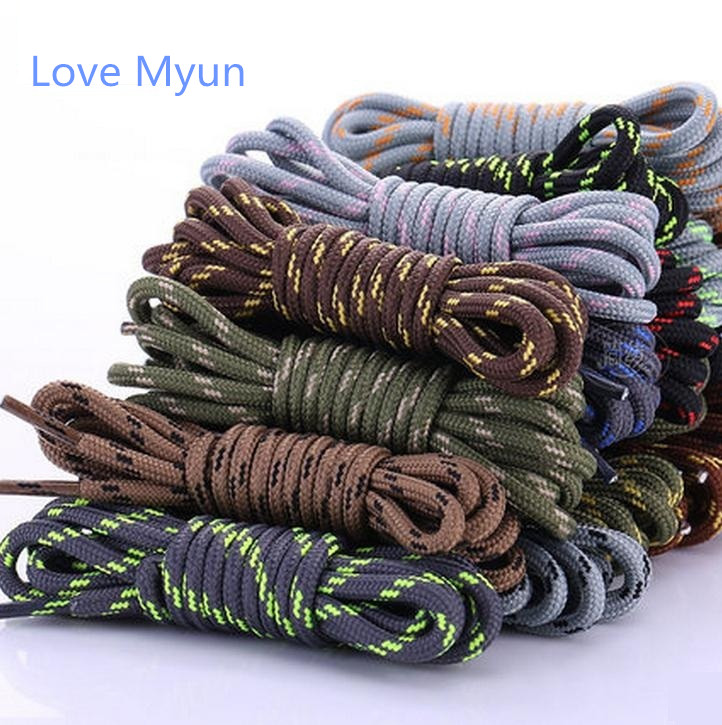 New Shoeslaces 1Pair Round Shoelaces Polyester Multicolor Sport Shoelaces