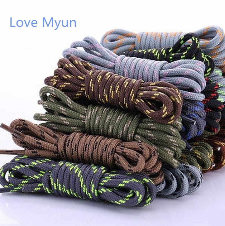 New outdoor sport casual multicolor round shoelaces hiking slip rope shoe laces sneakers shoelaces skate boot shoe laces strings
