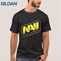 Dota 2 Natus Vincere Team Logo Drake Tshirt Black Hip O Neck Cotton Simple Plus Size