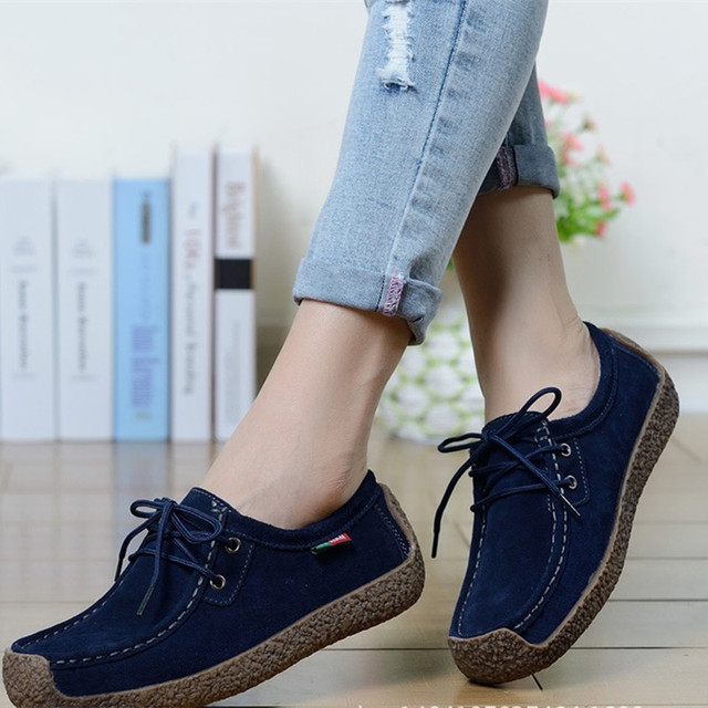 Fashion Women shoes breathable soft solid women casual flat shoes hot sale spring women loafers autumn female footwear DQT90