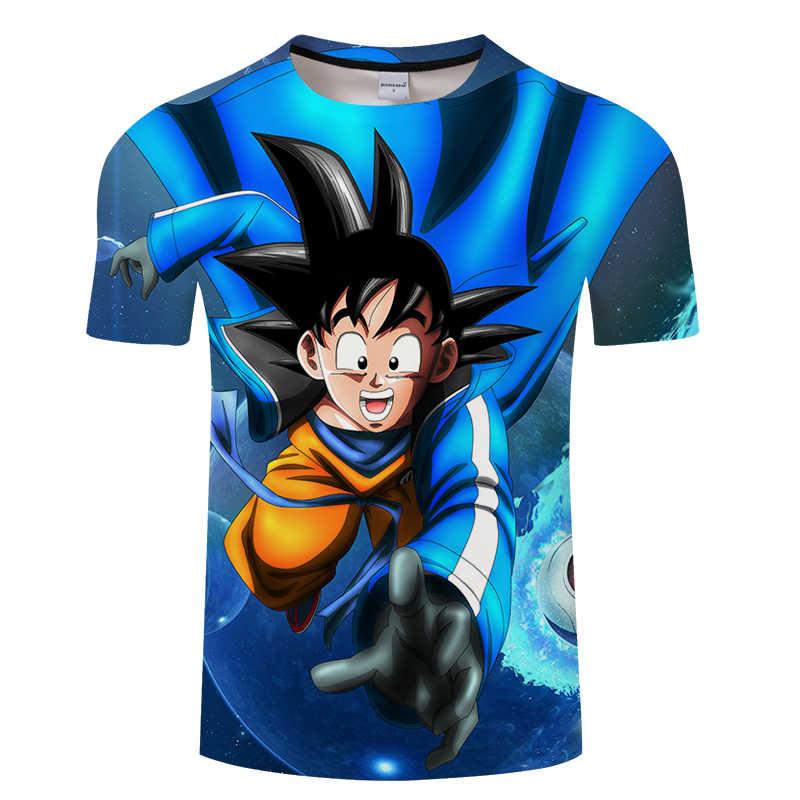 Dragon Ball 3D футболки мужские летние Супер Саян Гоку черные Zamasu Vegeta HD печать футболки Стрекоза мяч Повседневная футболка Топы футболки
