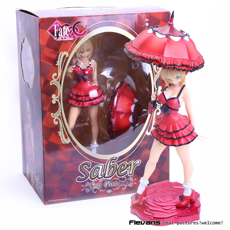 Alphamax Fate/Extra CCC Saber one piece ver. 1/7 Scale PVC Figure Collectible Model Toy 25cm FNFG046 fate extra ccc tamamonomae 1 7 scale painted figure informal dress ver caster pvc action figure collectible model toy 25cm
