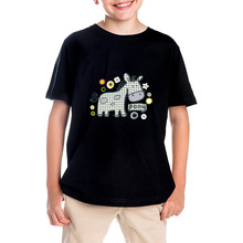 2017 summer time quick sleeve cotton T-shirts for boys Lovely Little Donkey print humorous t shirt for boy model clothes prime T-shirt