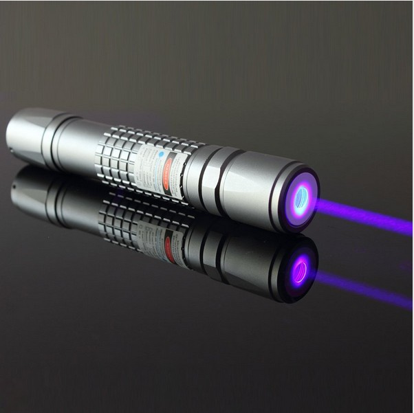 Powerful Military 405nm LED Flashlight Violet Blue Laser Pointer/ UV Purple Lazer Torch Burn Matches,Burn Counterfeit Detector