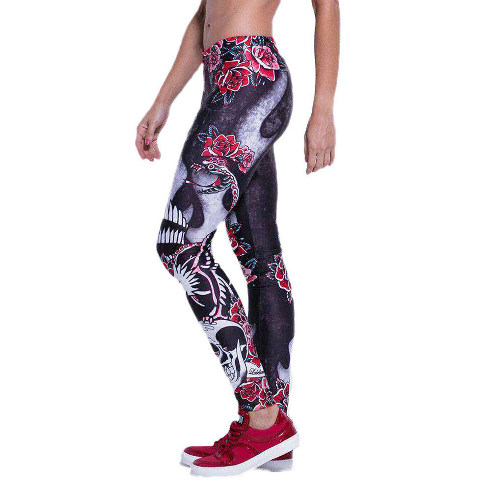 ee5f07f6c Women Fitness Workout Flower Print Sweatpants Sportswear flexible track  tights Pants Sports Leggings Fitness Stretch Trouser-in Trainning   Exercise  Pants ...