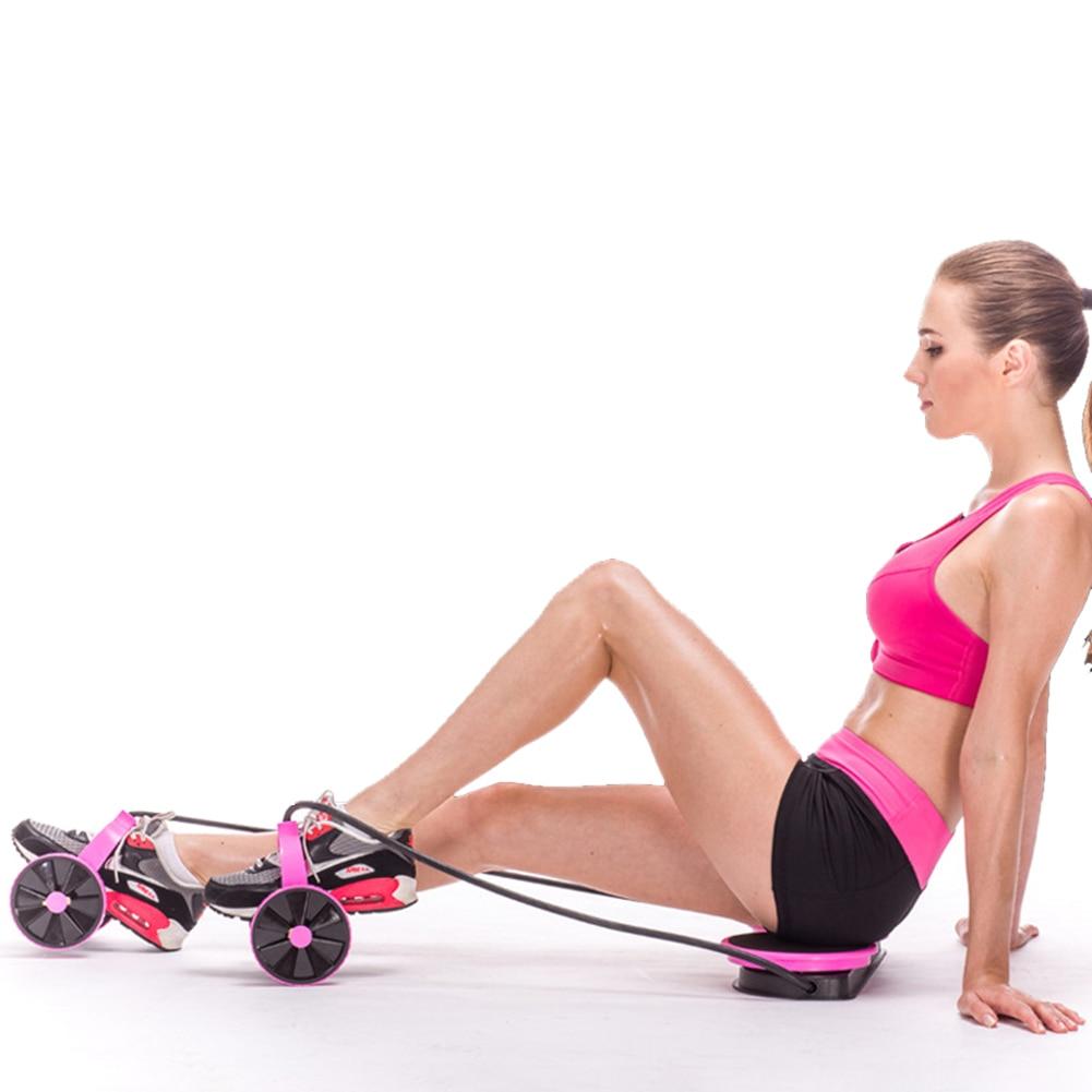 Crossflex Gym SportsTrainer Forfar Dual Wheels Roller Stretch Elastic Abdominal