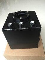 Universal 2L BILLET Aluminium Ölauffangbehälter Brennstoffzellen Kraftstofftank Kann KRAFTSTOFF DRUCKAUSGLEICHBEHÄLTER